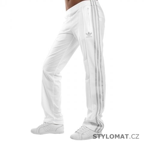 39fd692a24d Dámské bílo stříbrné kalhoty adidas Originals FIREBIRD TP - Redial -  Sportovní kalhoty a tepláky