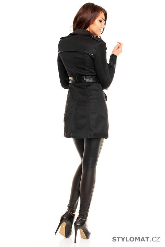 a51c7a43e2d Dámský černý elegantní trenčkot - Urban Surface - Kabáty a kabátky