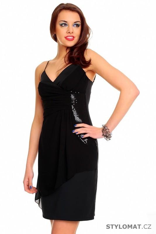 Dámské černé plesové šaty - Queen O.F. - Krátké společenské šaty 1ef6e981bc