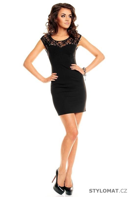 908870b2754 Dámské černé elegantní šaty s krajkou - Queen O.F. - Krátké společenské šaty