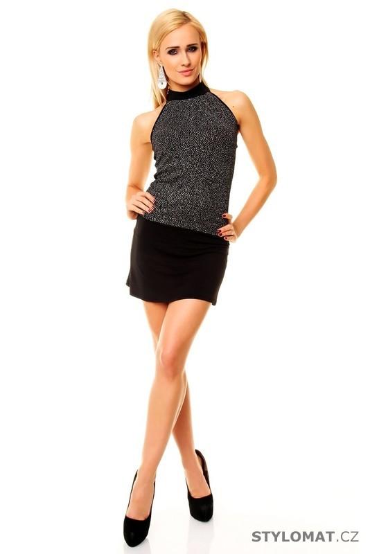 3c2dc910c70 Krásné dívčí černé minišaty - Best Emilie - Party a koktejlové šaty