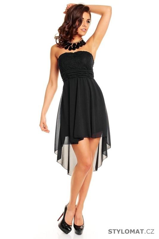 Dámské černé krajkové koktejlové šaty - Mayaadi - Krátké společenské šaty a971808ab9
