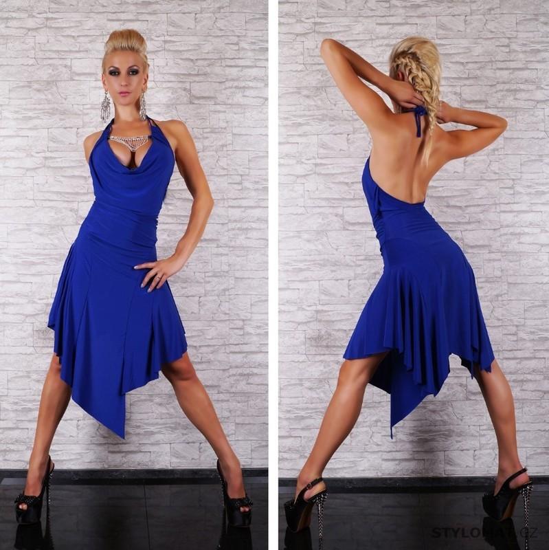 Dámské modré latino šaty - jiny - Party a koktejlové šaty 177ba4fbb54