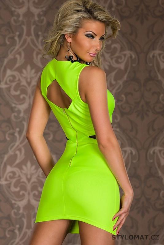 ... koktejlové šaty    Dámské elegantní neonově žluté minišaty. Previous   Next 2e083fc1ef