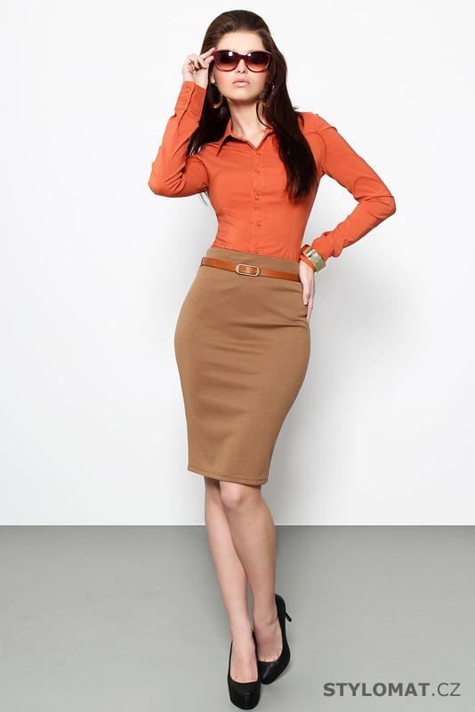 Business oranžová košile - Forget me not - Košile 4768fc7565