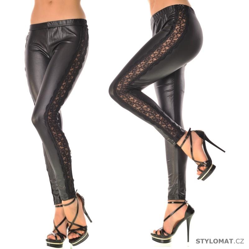 Moderní černé legíny s krajkou - Fashion - Legíny bdf3d9bec6