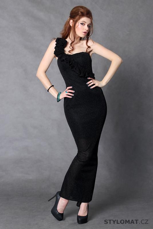 Moderní černé dlouhé šaty střihu mořská panna - Pink BOOm - Dlouhé ... 987d1f3e91