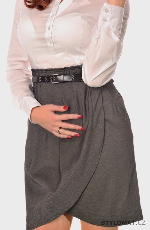 Dámské šedé košilové šaty - Fashion - Krátké letní šaty 50ac999b034