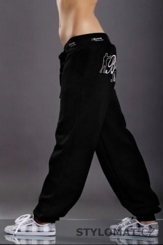 40cfe6b2df0 Dámské černo-bílé sportovní tepláky s potiskem - Redial - Sportovní kalhoty  a tepláky