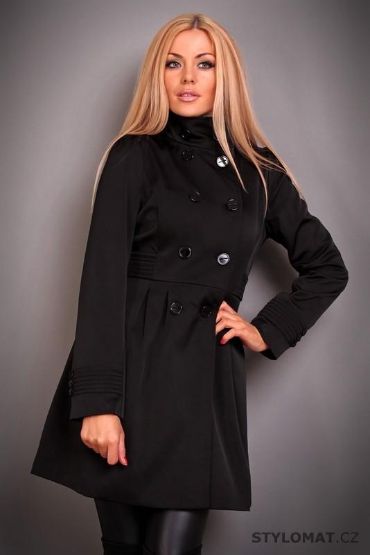 Elegantní dámský černý trenčkot se stojáčkem - Redial - Kabáty a kabátky 98638b33ab