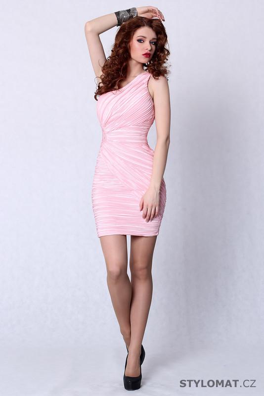 dd99642095c Trendy světle růžové koktejlové šaty - Pink BOOm - Party a koktejlové šaty