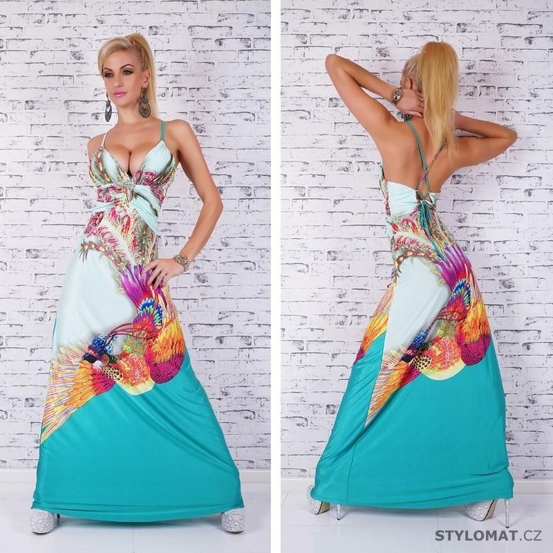 Dámské extravagantní dlouhé letní šaty - zelené - Queen O.F. - Dlouhé  společenské šaty 4749ddf4ec