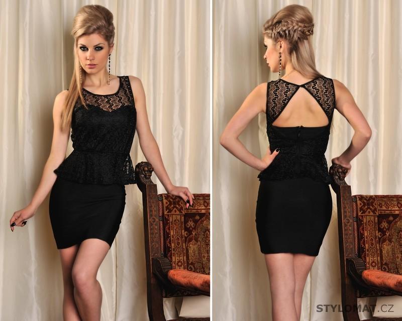 Módní peplum šaty s krajkou - Fashion - Krátké letní šaty c081f77e0d