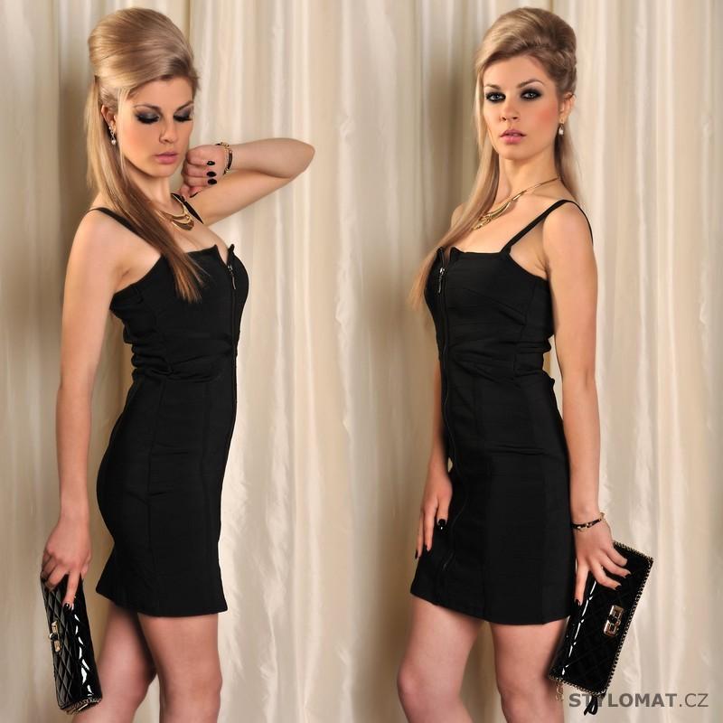 40df6048eac Černé pouzdrové šaty na ramínka - Fashion - Minišaty