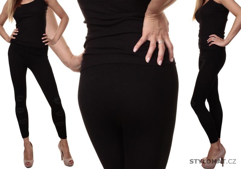 Sexy černé legíny s průstřihy - Crazy Age - Legíny a3f00a4fc1