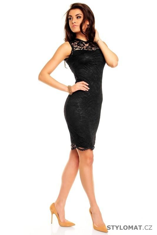 5916540cff03 ... Krátké společenské šaty    Dámské černé krajkové večerní šaty.  Previous  Next