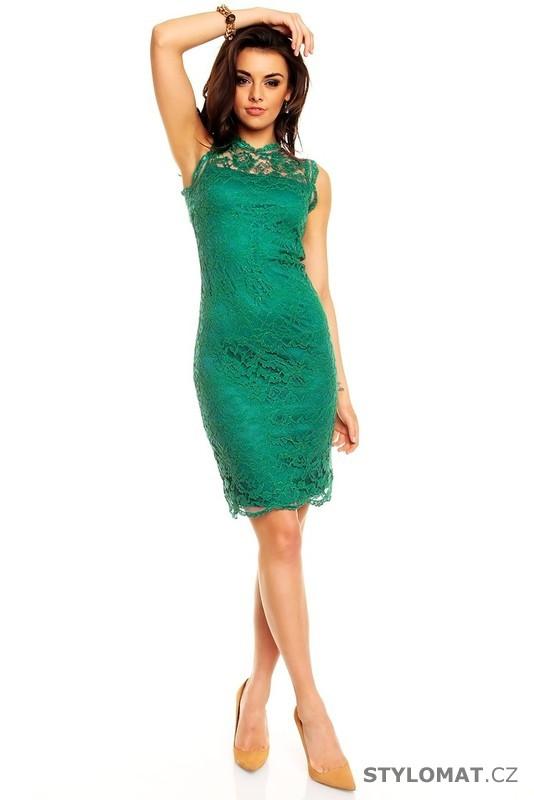 Dámské zelené krajkové večerní šaty - Mayaadi - Party a koktejlové šaty d96d2ae002