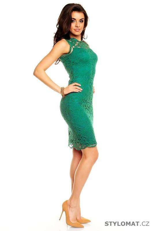 8ca188eca47 ... Party a koktejlové šaty    Dámské zelené krajkové večerní šaty.  Previous  Next