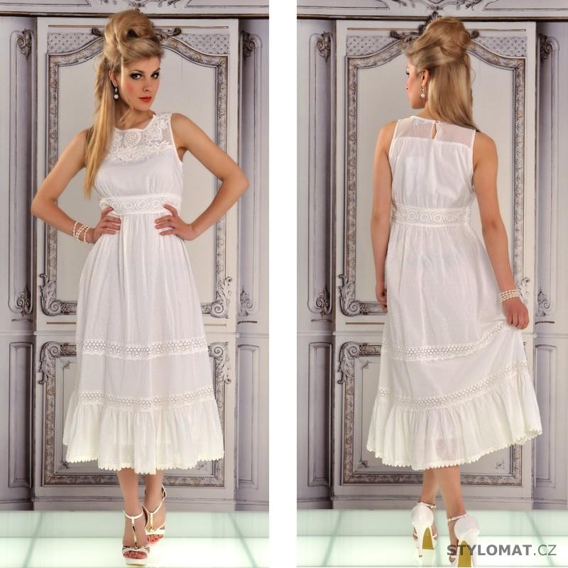 Dlouhé bílé romantické šaty - Fashion - Dlouhé letní šaty 648751cd01