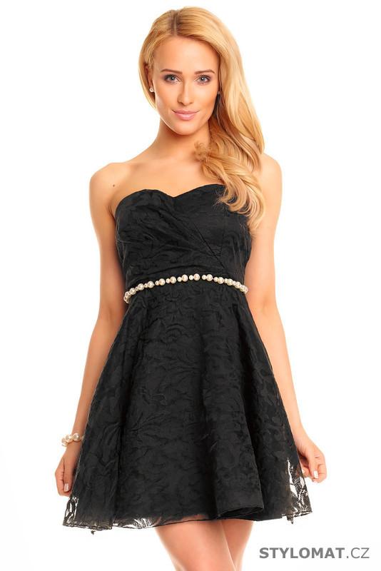 Černé koktejlové šaty - Mayaadi - Krátké společenské šaty 6b36dc8d4d