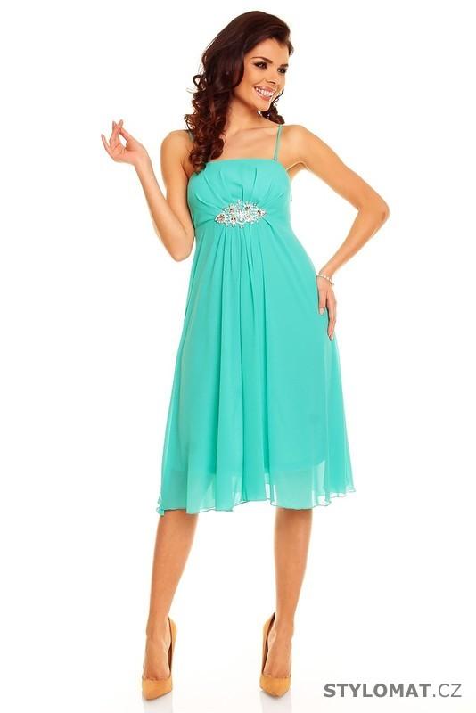 76d09efa19e Dámské tyrkysové šaty - II. jakost - Best Emilie - Krátké společenské šaty