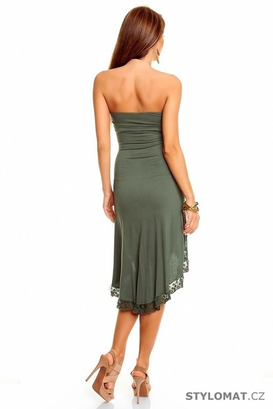 Dámské háčkované letní kahki šaty - Best Emilie - Krátké letní šaty fdea10ddaf