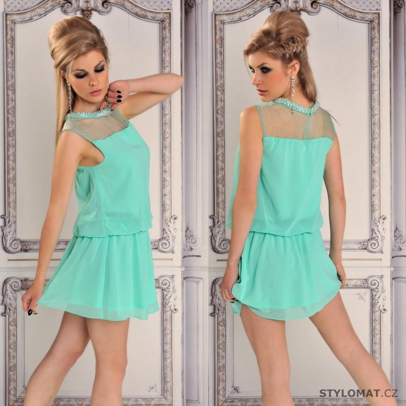 Letní tyrkysové šaty - Fashion - Krátké letní šaty 368a143e98
