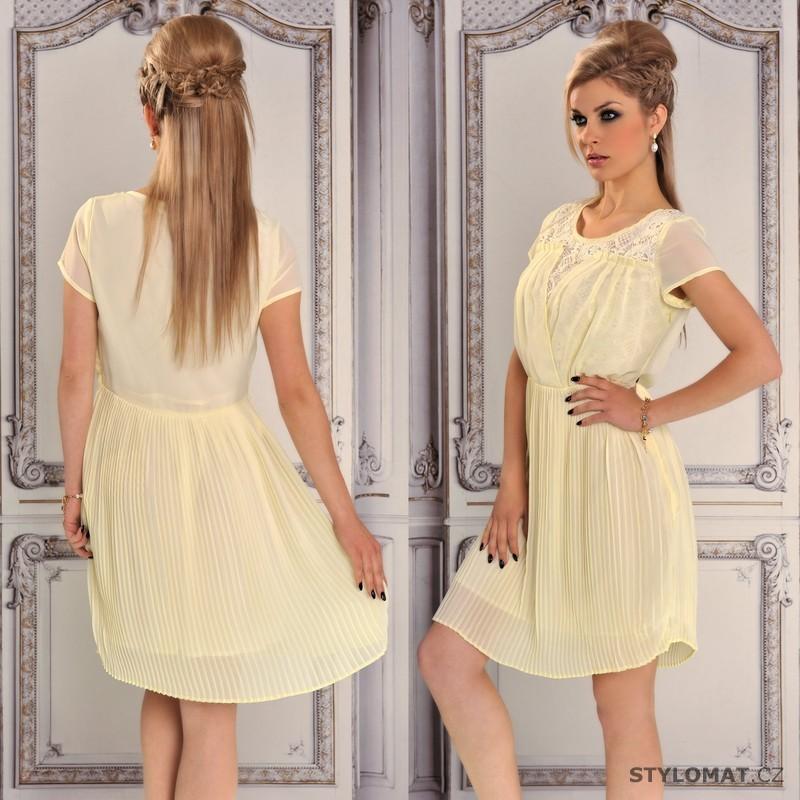 Žluté lehké letní šaty - Fashion - Krátké letní šaty 3490beb288