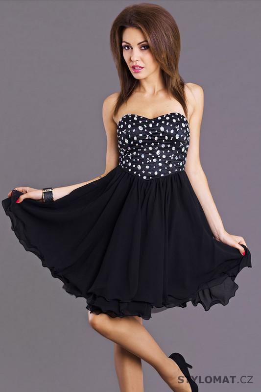 8a8454714c4 Trendy černé koktejlové šaty - Emamoda - Krátké společenské šaty