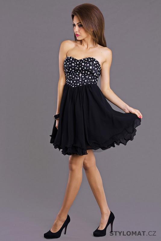 Trendy černé koktejlové šaty - Emamoda - Krátké společenské šaty 7cb2ddd4c8