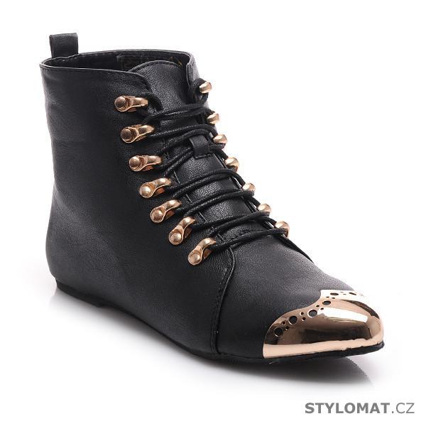 048eeb3738e Šněrovací boty s kovovou špičkou. - Luboo - Kotníčkové boty
