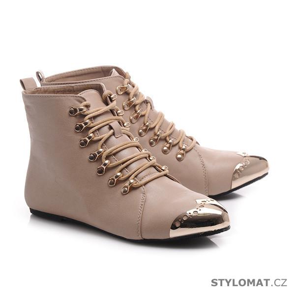 17ae7c4b688 ... Kotníčkové boty    Šněrovací boty s kovovou špičkou. Previous  Next