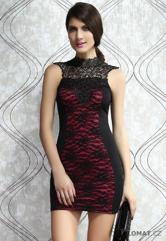 Večerní dámské černo-růžové šaty - Damson - Party a koktejlové šaty c64a9c59ac