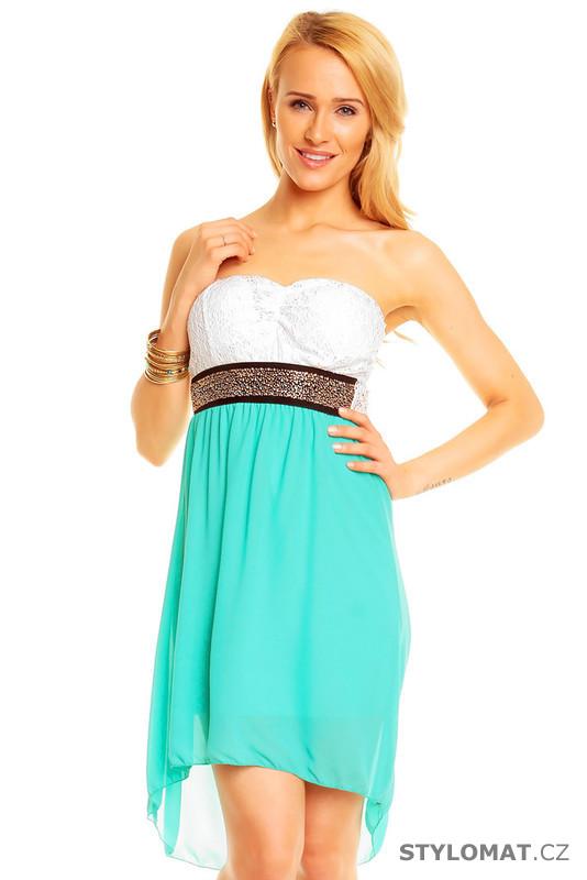 6af728bb410 Společenské mint šaty - EU - Krátké společenské šaty