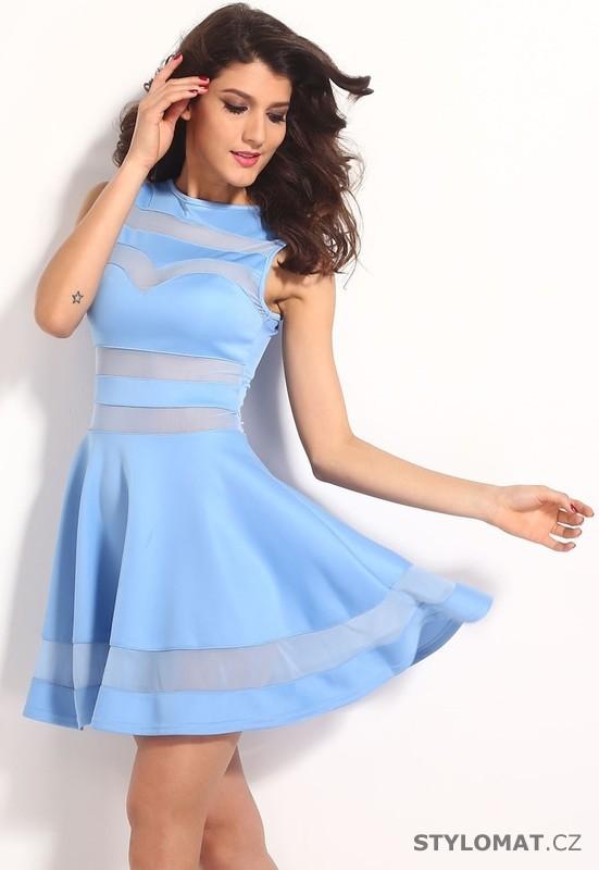 Svůdné světle modré šaty - Damson - Party a koktejlové šaty 218cf4e937
