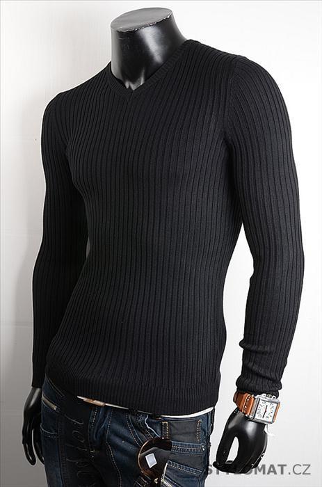 1f74149841e Pánský černý pulovr - jiny - Svetry a mikiny