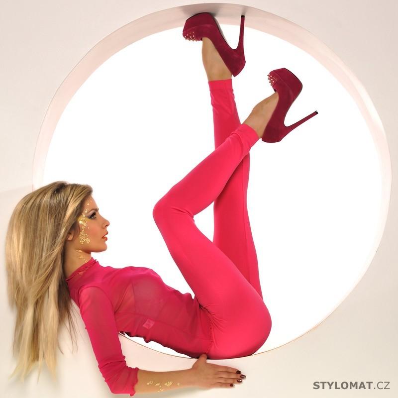 Trendy neonově růžové legíny - Fashion - Legíny 2c4b71eb34