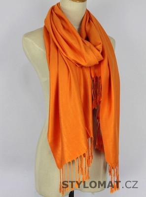 072019fb5b6 Šála typu pašmína oranžová - Stylomat.cz - Dámské šály a šátky