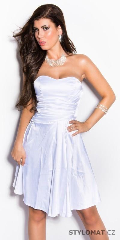 Dívčí šaty do tanečních bílé - Koucla - Krátké společenské šaty 792b3f7e30