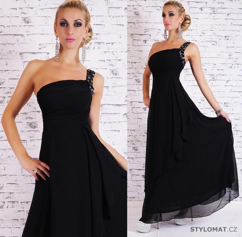 Dámské dlouhé plesové šaty - černé - EU - Dlouhé společenské šaty c65bb8c083