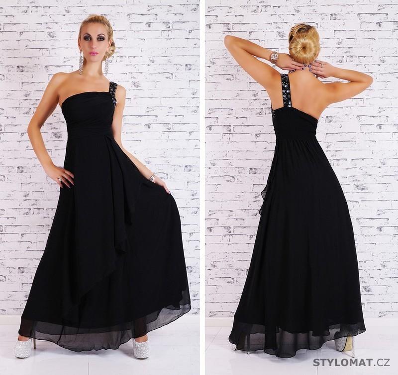 Dámské dlouhé plesové šaty - černé - EU - Dlouhé společenské šaty 30043376b7