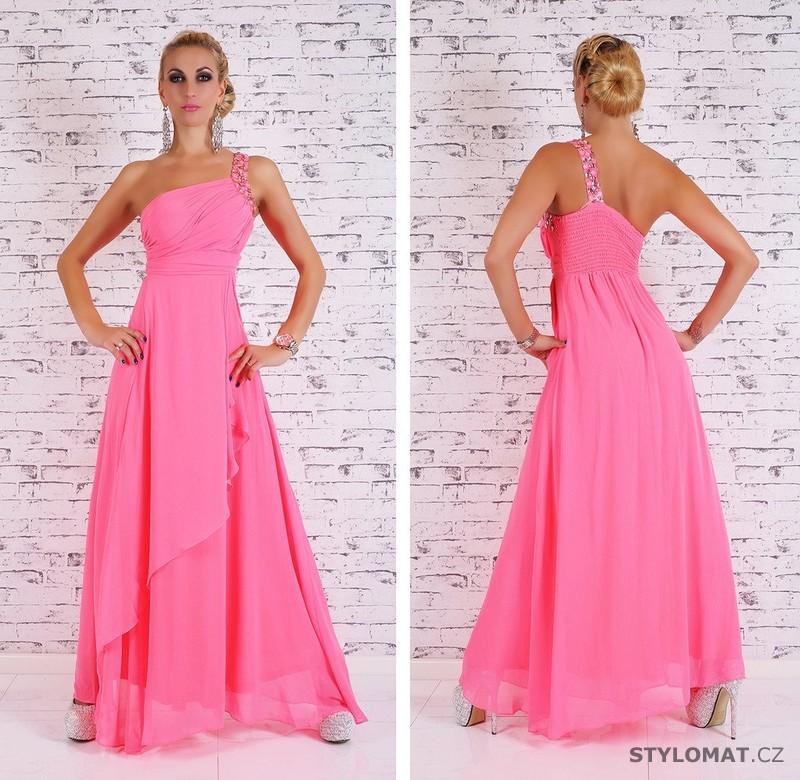 Dámské dlouhé plesové šaty - růžové - EU - Dlouhé společenské šaty 23406f4312