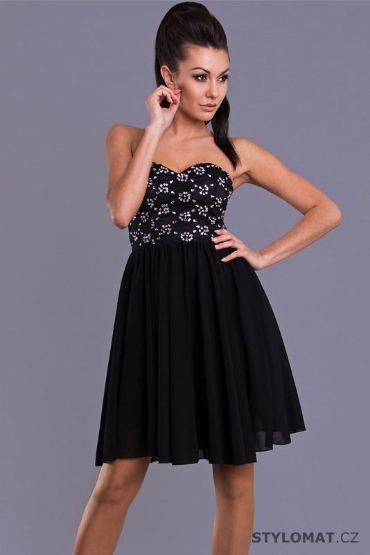 krátké černé společenské šaty - Emamoda - Krátké společenské šaty df99b2bb7d