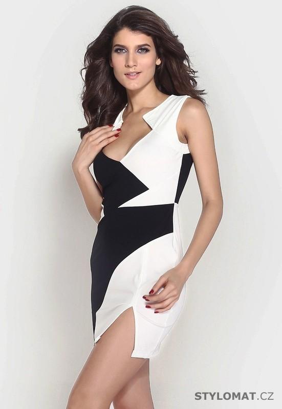 1b28f30b311a Dámské módní černo-bílé šaty - Damson - Party a koktejlové šaty