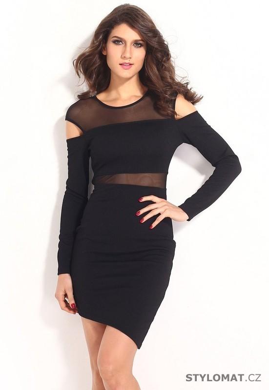 7cddd81f67e1 Krátké svůdné černé šaty s dlouhým rukávem - Damson - Party a koktejlové  šaty