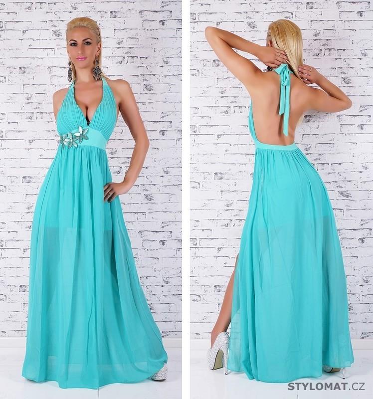 Tyrkysové plesové šaty - EU - Dlouhé společenské šaty 179a3f731d