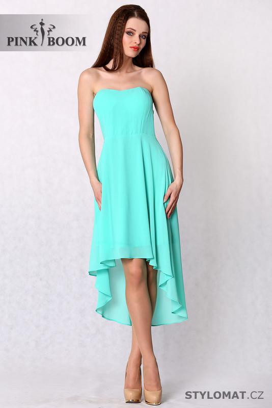 Módní tyrkysové šaty bez ramínek - YNS - Krátké letní šaty cfc12e5b35