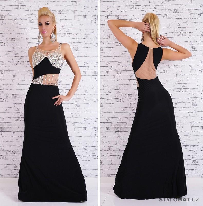 Sexy černé společenské šaty - EU - Dlouhé společenské šaty 1e81ec1c77