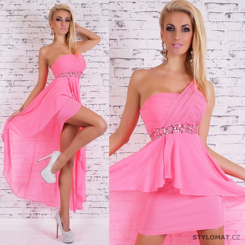 Růžové plesové šaty - EU - Dlouhé společenské šaty a7619f6492