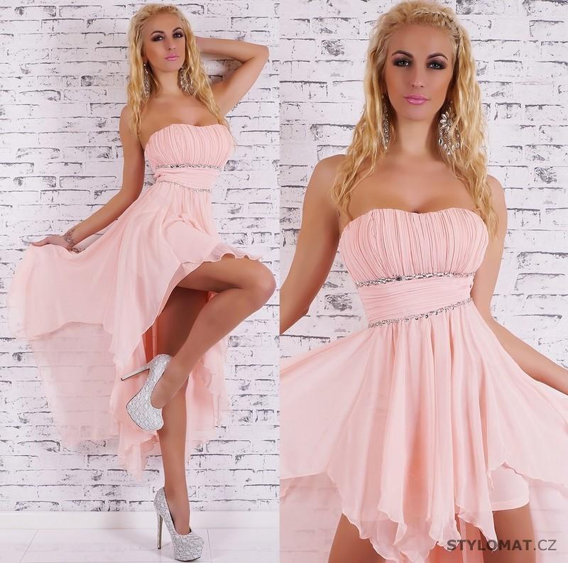 74b4750065d Společenské světle růžové šaty - EU - Krátké společenské šaty